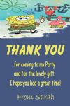 Personalised Spongebob Thank You Cards